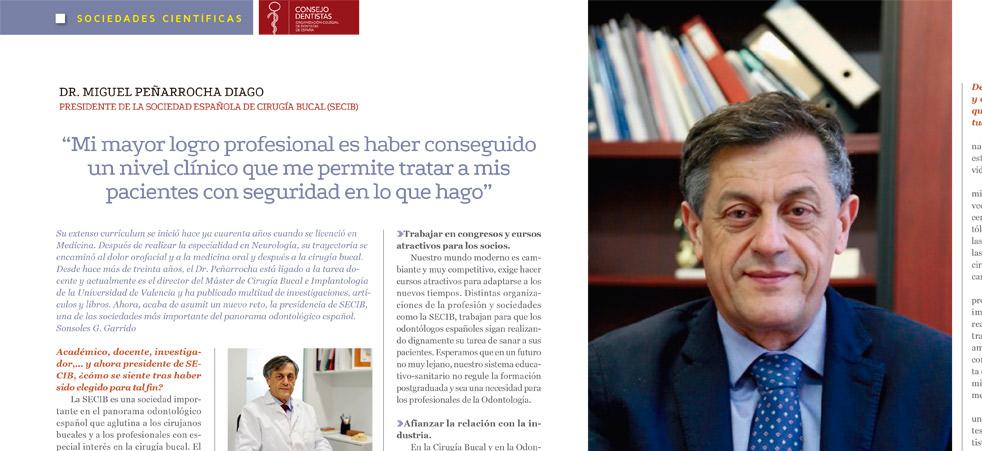 dr miguel penarrocha consejo general dentistas espana